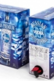 Vodka «RUSSIAN PREMIUM BLUE» 40%/37,5% Alk. 3,0 L