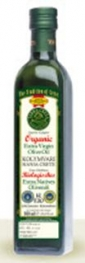 Organic PDO Kolymbari Extra Virgin Olive Oil in Glass Bottle